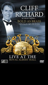 Cliff Richard - Bold As Brass DVD - available